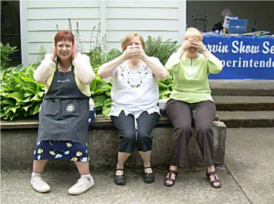 Nicole Cooper, Mary Friebert and Erin Bate, See, Hear and Speak no Evil