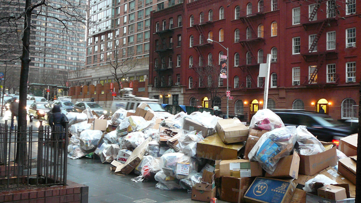 Garbage day in NYC
